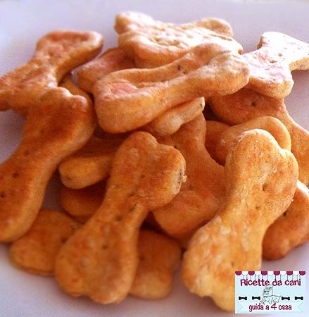 biscotti per cani al formaggio