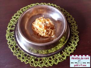 spaghetti alla carbonara per cani