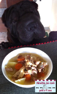 zuppa pollo per cani