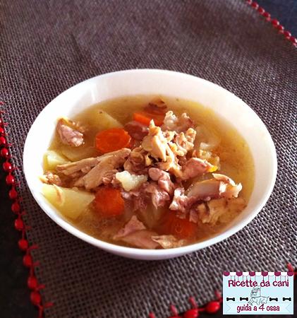 ricette per cani, zuppa di pollo