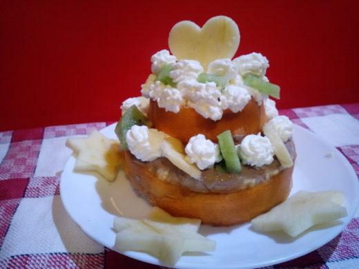 torta di compleanno per cani (torta agrodolce con fegato e frutta)