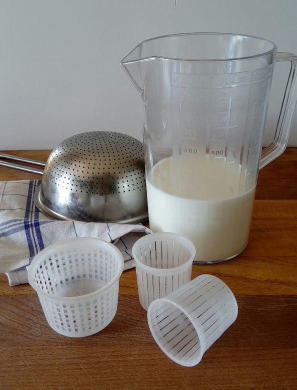 ricotta di capra fatta in casa - ingredienti