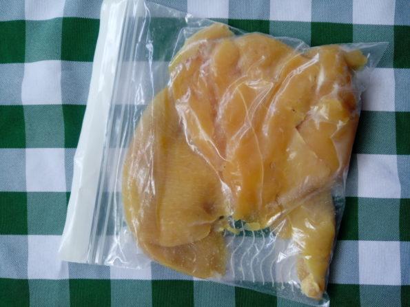 straccetti di pollo in vasocottura - preparazione