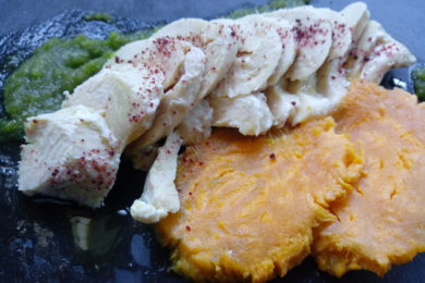 straccetti di pollo in vasocottura