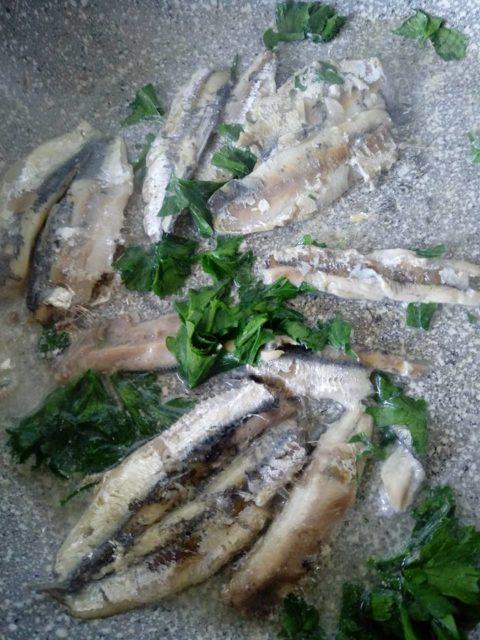cottura delle sardine