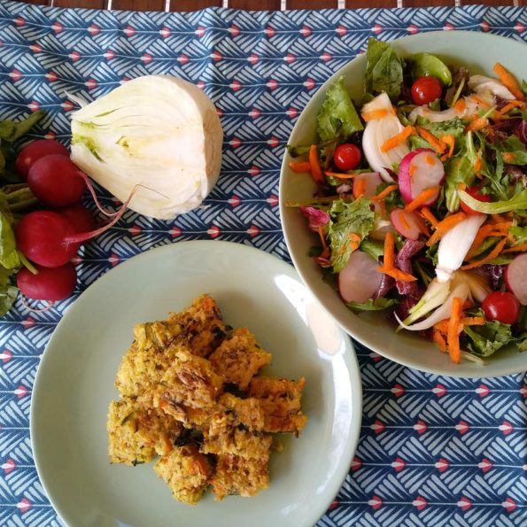 bocconcini di miglio con insalata