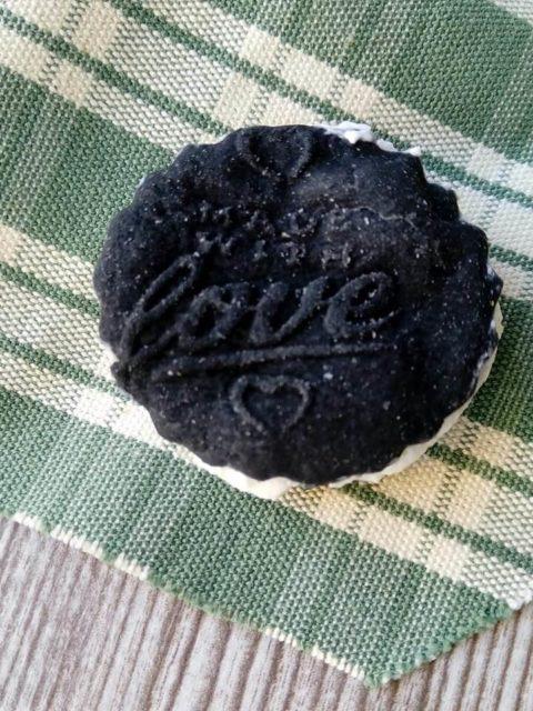 texture del biscotti farcito