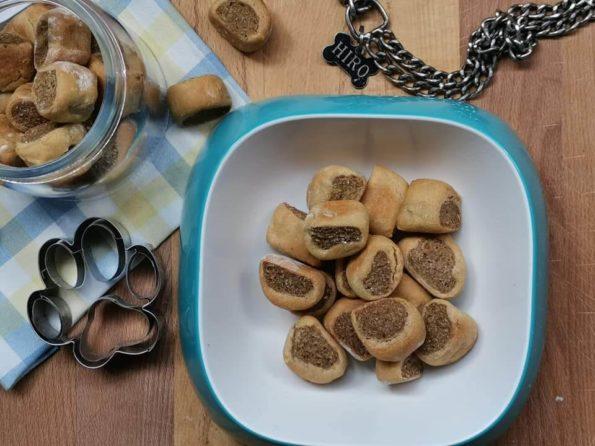 biscotti ripieni per cani