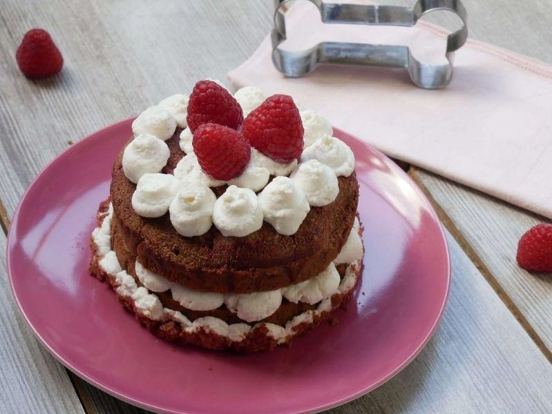torta red velvet per cani